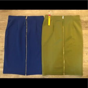 NEW Catherine Malandrino Scuba Skirt bundle Sz 8